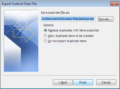 Data File Export preferences