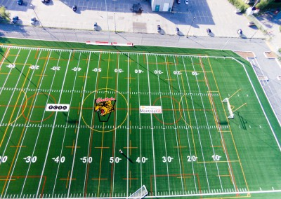 The new Vanier football field